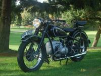 1951 BMW R51/3 Clear Motorcycle. Rare, beautiful