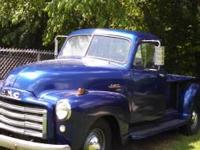 I am selling a 1951 blue GMC Pick Up with a wooden bed.