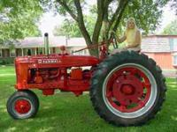 nice 51 H model farmall tractor motor was rebuilt 3