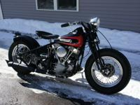 1951 Harley-Davidson Panhead EL Bobber. The bike has