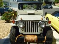 Nicely restored, sharp cj3a, great daily driver, 4 x 4