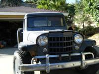 1951 jeep willys truck in excelent body shell