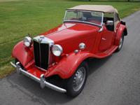 1951 MG TD Frame off restoration. Matching numbers