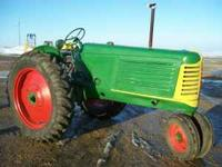 1951 OLIVER 77 GAS TRACTOR NEW PAINT AND TIRE RUNS OUT