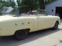 This is a old Barn-find 1951 Packard 250 Convertible,