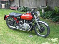 1951 Vincent Rapide Series C Matching Numbers. This is