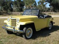 1951 Willys overland Jeepster. The vehicle has been