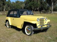 1951 Willys overland Jeepster. The car has been driven