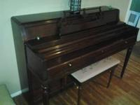 BEAUTIFUL WURLITZER PIANO WITH DARK CHERRY FINISH ·