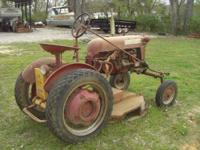 1951 McCormick Farmall Cub Under belly brush hog