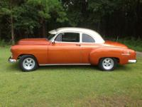 1952 CHEVY CLUB COUPE. IT HAS A 350 ENGINE AND