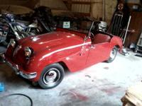 1952 Crosley roadster 52,000 miles 35-50 mpg. Ready for