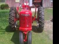 farmall H runs and looks great restored a few years ago