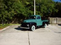 1952 Ford F1  215 Cu In Three Speed FRAME OFF