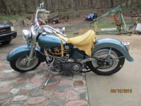 Classic Harley 1952, newly rebuilt, looks great, this
