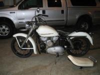 1952 Harley Davidson K model 750 motorcycle. Used