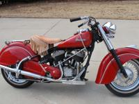1952 Indian Chief. This bike was restored back in the