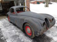 1952 Jaguar XK 120 early coupe. The car is missing