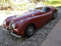 1952 Jaguar XK120 Replica in classic bright red with