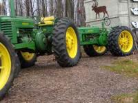 For sale is a 1952 John Deer G. Has a lot of power and