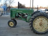 1952? JD tractor new battery, new grill screen, runs
