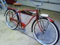 """1952 schwinn hornet 26"""" balloon tire bike , new paint"""