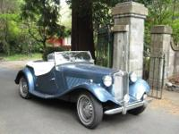 BEAUTIFUL 1952 MG-TD CONVERTIBLE ROADSTERIN GREAT