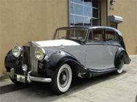 1952 Rolls-Royce Silver Wraith. Silver over black with
