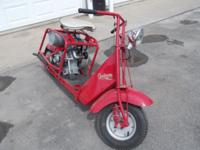1952 Step Through Cushman Scooter. Full Restoration.