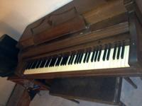 Traditional Wurlitzer Upright Spinet Piano - I think it