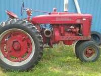 I have a 1952 Farmall M. Very good condition. Both tire