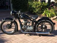 1953 BMW R 25/2 Vintage Motorcycle 250cc SingleThis is