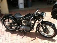 This is a 1953 BMW R 25/2 with matching