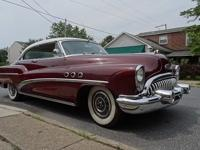 1953 Buick Super Riviera 2DR HT ..Maroon Paint ..White