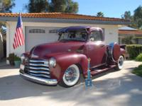 TIMELESS 1953 Chevrolet 3100 5 glass pick-up. Lots of
