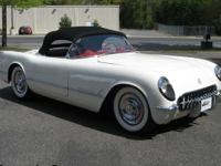 This car is sitting on a 1955 Corvette chassis, new