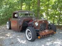 1953 Chevy Rat Rod Pickup, Custom 2x4 frame, second to
