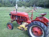 Excellent starting and running tractor. Selling as a