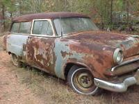 Very solid restorable 1953 Ford Ranch Wagon two door.