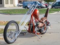 This is a 1953 Harley Davidson Panhead, the engine has