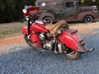 ..1953 INDIAN CHIEF, UNRESTORED, GARAGE FIND. This is a