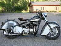 1953 Indian Chief Dry Climate Bike, Virtually no rust,