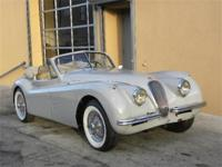 1953 Jaguar XK120 DHC. Gray with gray interior.