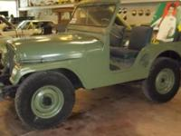Very sharp 1953 Willys Army Jeep with 4 cyl engine and
