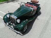 1953 MG T-Series Roadster  This little green British