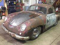 1953 Porsche 356 Bent Window Pre-A Coupe Project.  Here