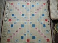 OLD 1953 SCRABBLE BOARD GAME ALL PIECES ARE WITH THE