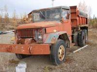 A 1953 dump truck 6x6 Studebaker with PTO wench, good