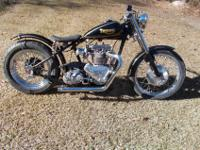 1953 Triumph 6T Thunderbird Chopper Drag Bike. This