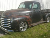 1953 Chevrolet 3100 Pick Up Patina Restomod.  1953